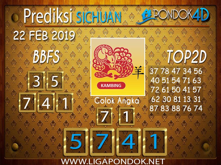 Prediksi Togel SICHUAN PONDOK4D 22 FEBRUARI 2019