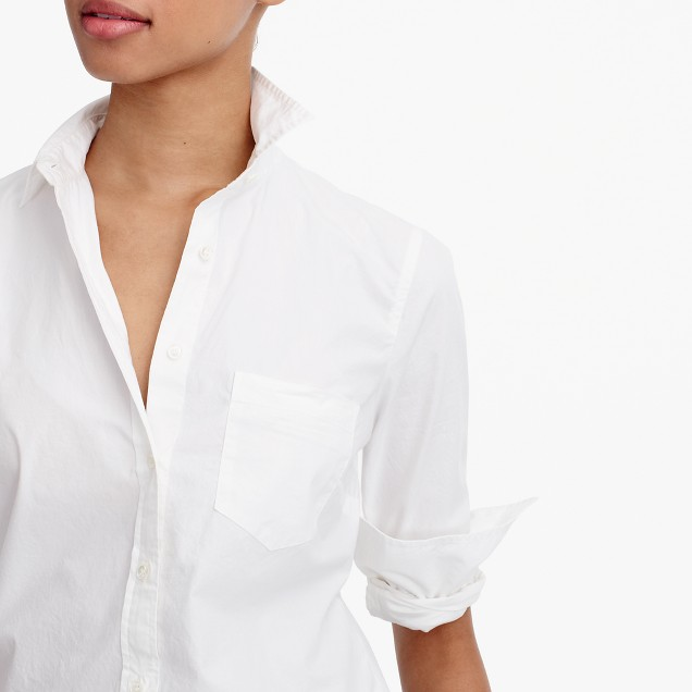 J Crew New perfect shirt in cotton poplin
