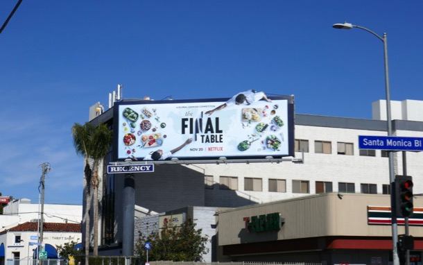 Final Table cut-out billboard