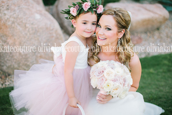 cd13e59164 OLIVIA KATE COUTURE! SO PRETTY!!! ...New Photo sent in from client... PINK  BLUSH Flower Girl Dress ...