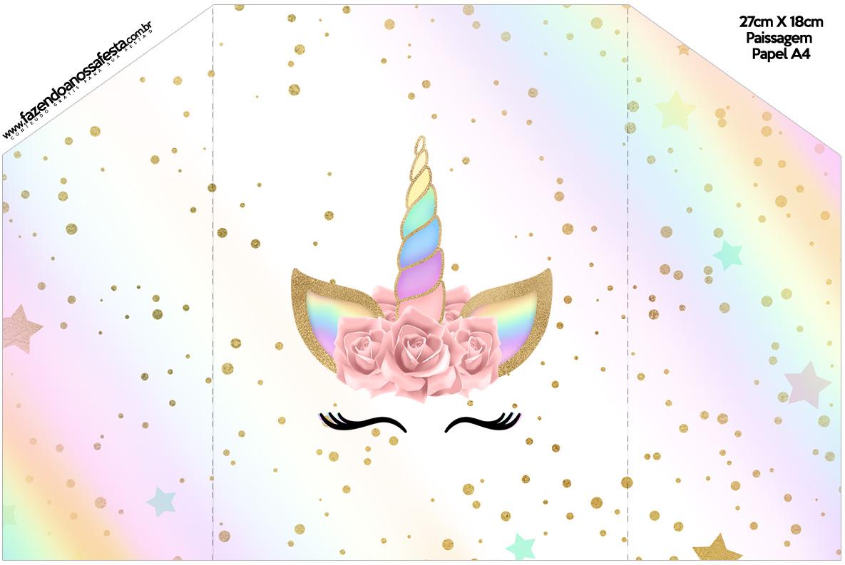 Libreta De Dibujo Mandala Unicornio Papel Blanco: Unicornio Y Arco Iris: Invitaciones Para Imprimir Gratis