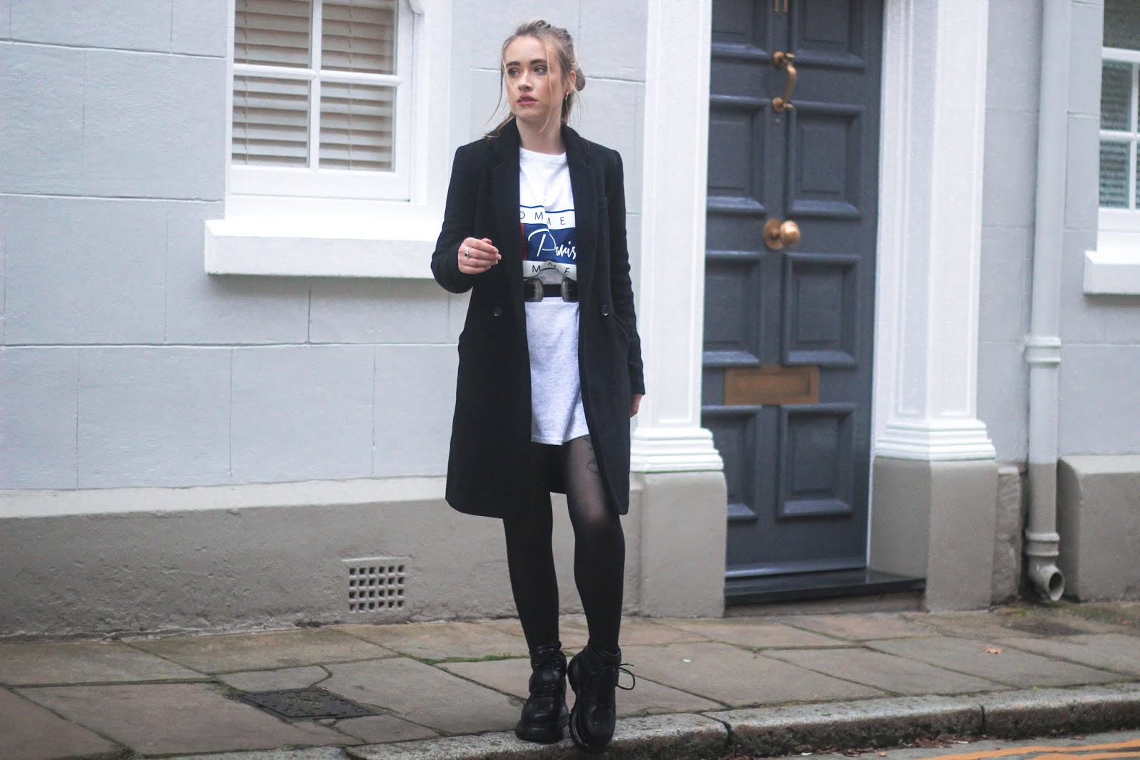 UK blogger Lucy Love styles Boohoo dress for winter