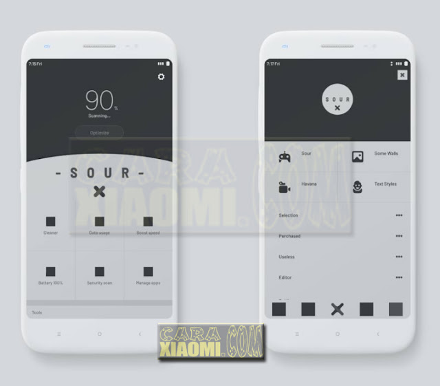 Thema MIUI Xiaomi Sour MTZ Update New Design For V9 Theme