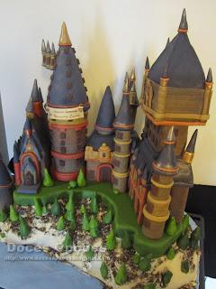 bolo Hogwarts Castle Harry Potter bragança