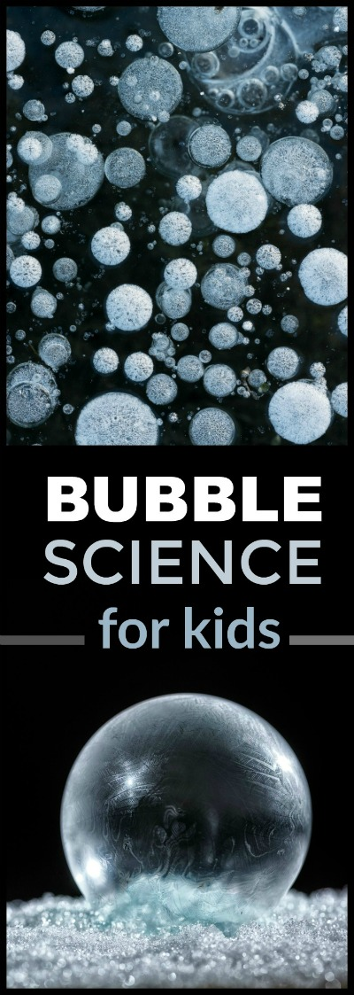FROZEN BUBBLES- super fun winter science for kids! #scienceforkids #winteractivitiesforkids #winterscience #frozenbubbles
