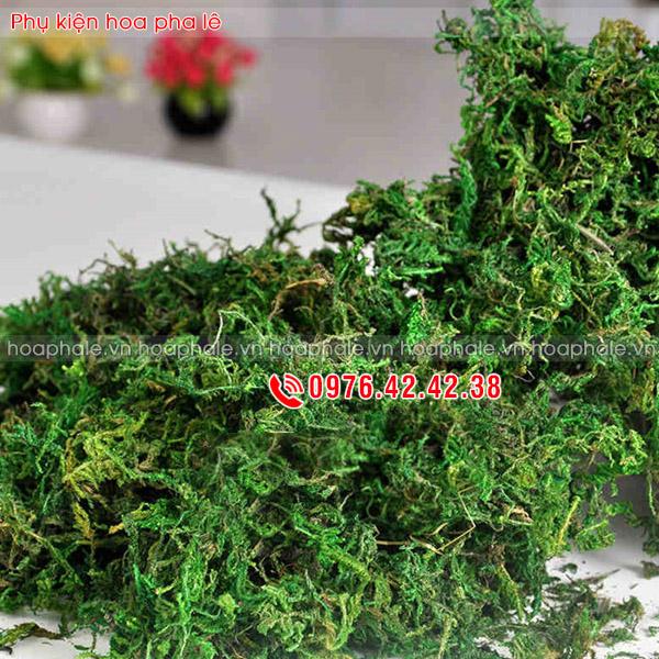 Rêu sợi - phụ kiện cắm hoa pha lê