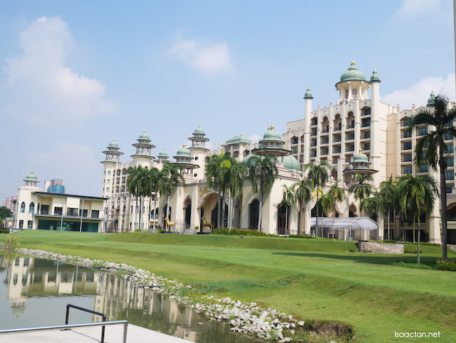Another view of the hotel from the lake