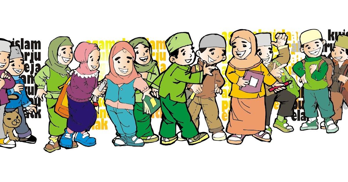gmbr kartun: anak sholeh ceria
