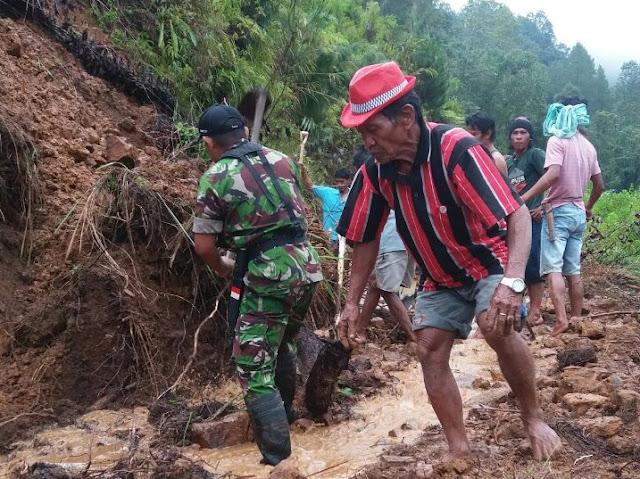 Longsor di Parinding Toraja Utara, Putuskan Akses Jalan
