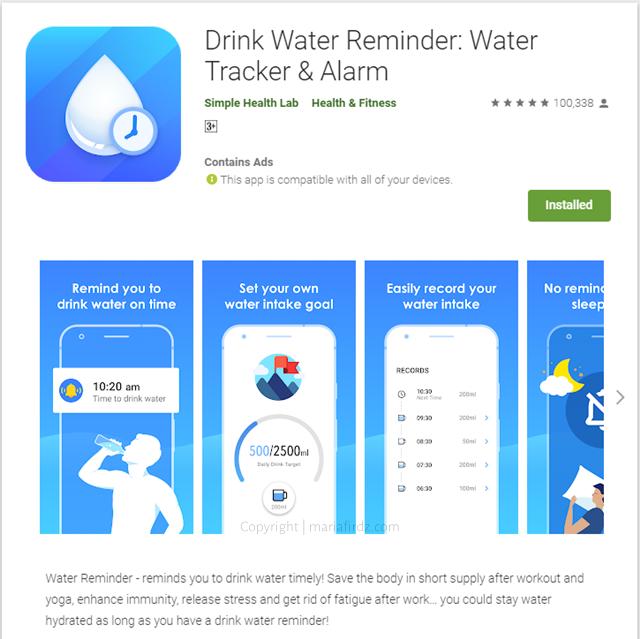 Cara minum air cukup setiap hari