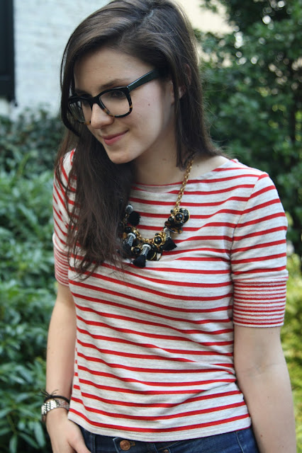 2017, summer, stripes, summer, OOTD, red lips, how to wear,