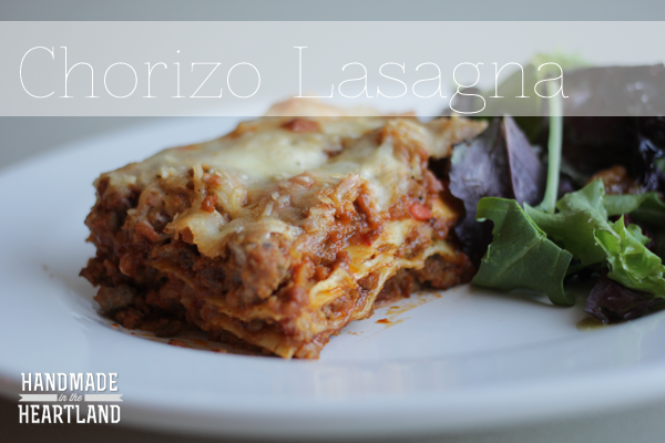 Chorizo Lasagna