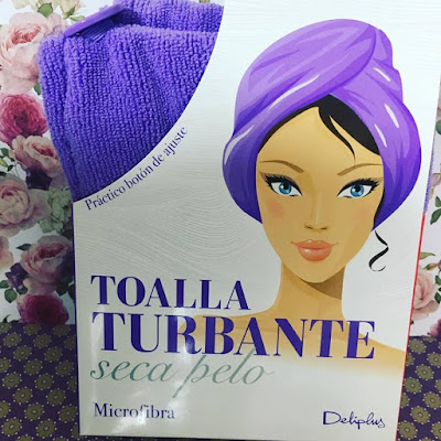 Toalla turbante, toalla de secado, turbante, seca pelo, deliplus, microfibra,