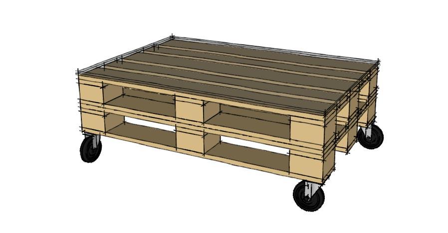 Un Tavolino Con Le Ruote.Progettare Con I Pallet Come Costruire Un Tavolino Con I Pallet