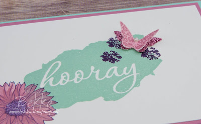 Congratulations Card featuring Free Products from Stampin' Up! UK Get yours here