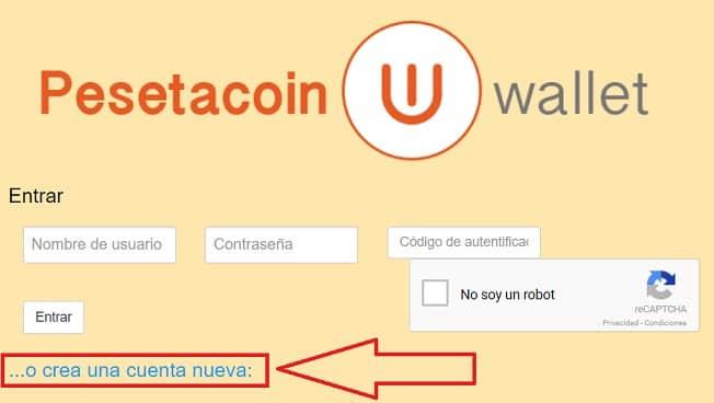 guía tutorial paso a paso wallet billetera pesetacoin PTC