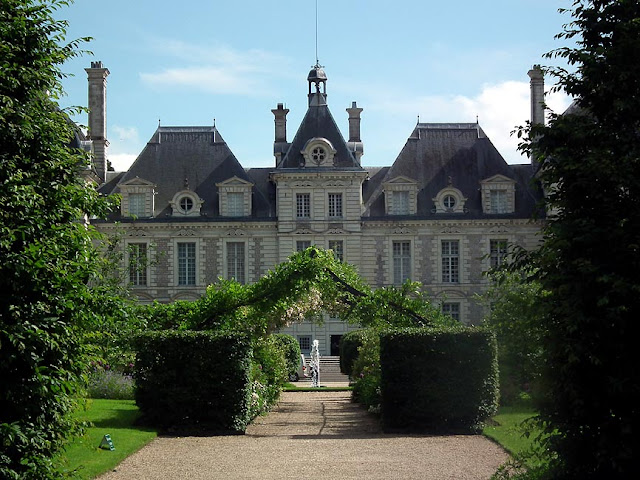 Chateau de Cheverny.  Indre et Loire, France. Photographed by Susan Walter. Tour the Loire Valley with a classic car and a private guide.