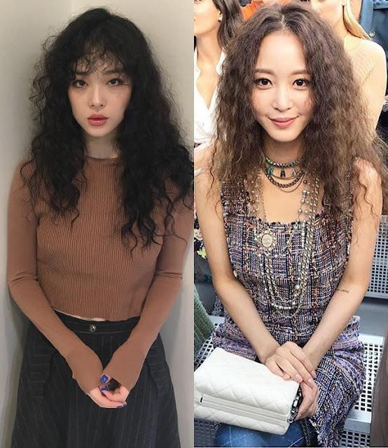 Tren Gaya rambut hippie Artis Korea