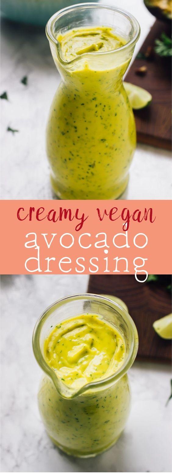 5-Ingredient Creamy Avocado Dressing