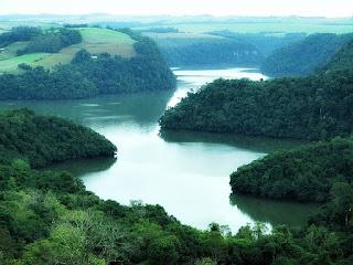 Vista Alta da Barragem Itaúba - Pinhal Grande (RS)