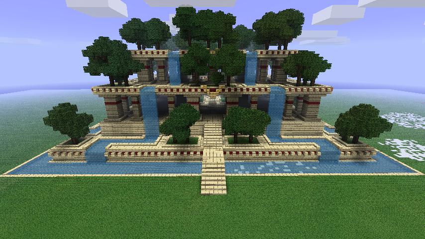 Les jardins suspendus de babylone dans minecraft for Piscine babylone