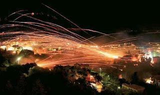 Греция Пасхальные фейерверки