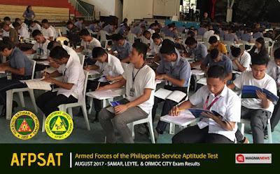 August 2017 AFPSAT Results for Samar, Leyte, and Ormoc - AROVIS