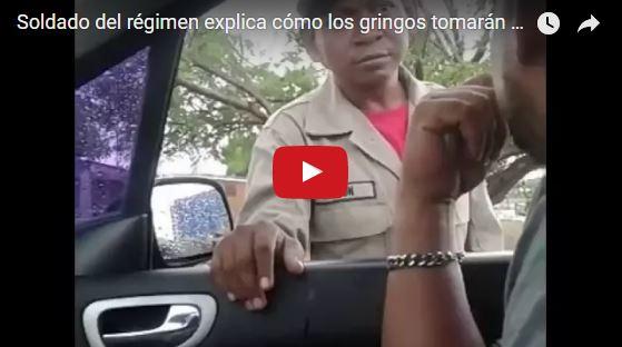 Soldado del régimen explica cómo los gringos tomarán el puente sobre el Lago