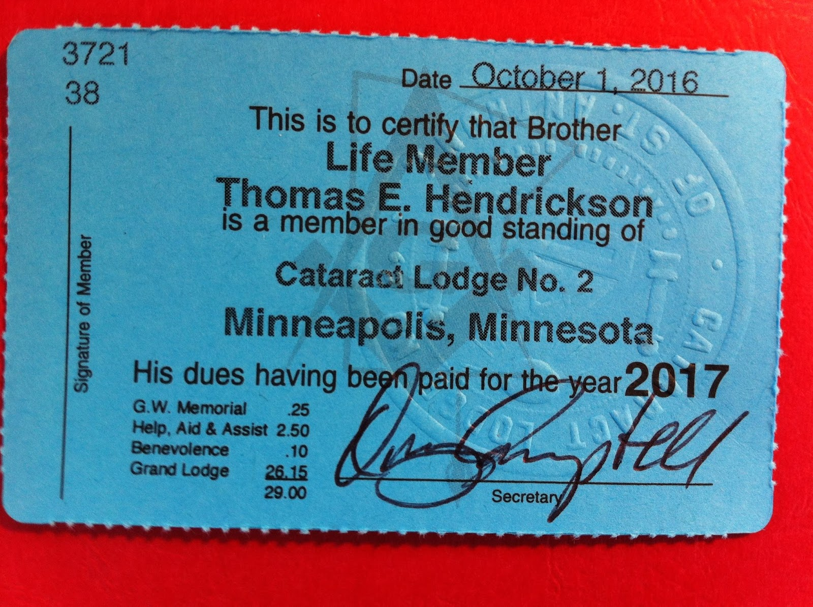 All Things Masonic: Some thoughts about my Dues Card