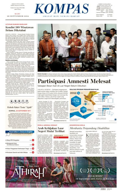 Kompas Edisi Rabu 28 September 2016