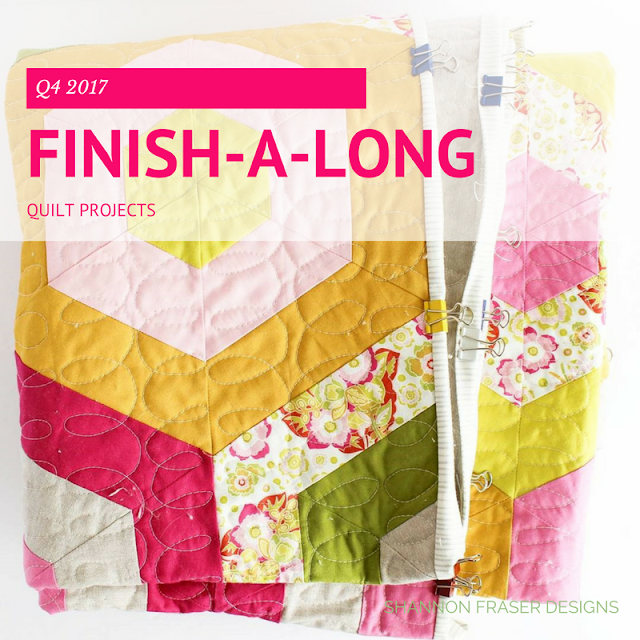 Q4 2017 Finish-A-Long Proposed Quilt Projects | Shannon Fraser Designs | Modern Quilting | Quilt Community | Hexie Stripe Quilt