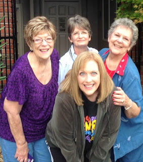 Betty S Morton with cousin Bev and sister Nina and daughter Susan