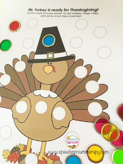 Five Little Turkeys Flipbook and Language Activities www.speechsptoutstherapy.com