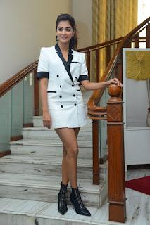 Pooja Hegde Stills At Ala Vaikunthapurramuloo Sucess Interview