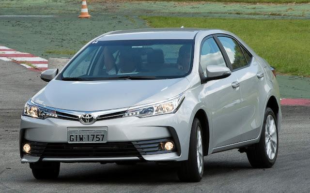 Corolla é o carro mais vendido da Toyota no Brasil