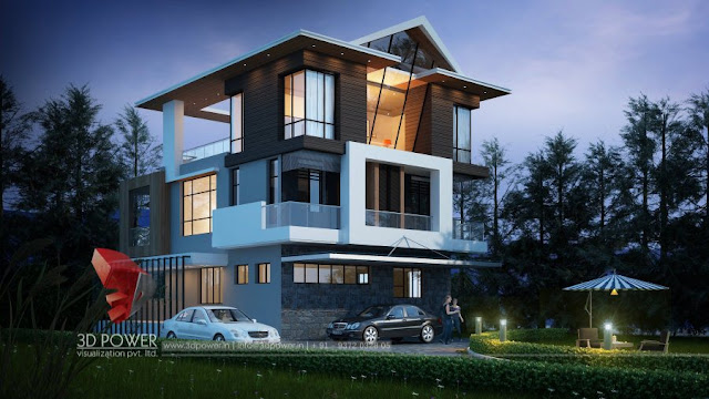 architectural bungalow elevation rendering bungalow elevation 3d bungalow visualization elevation - Small Bungalow Elevation