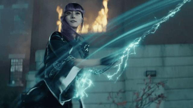 Shiori Kutsuna sebagai Yukio dalam film Deadpool 2