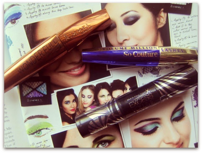 Mascara Reviews Rimmel Wonder'full, Max Factor Excess Volume, L'Oreal So Couture