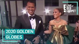 Jennifer Lopez e Alex Rodriguez Grace 2020 Globos de Ouro Tapete Vermelho