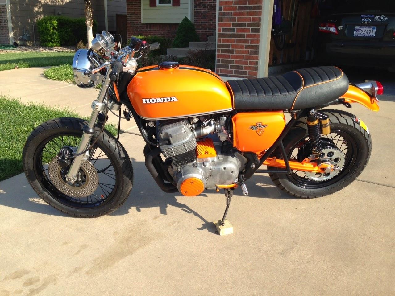 66 auto color: honda '72 750 custom cafe motorcycle - eclipse