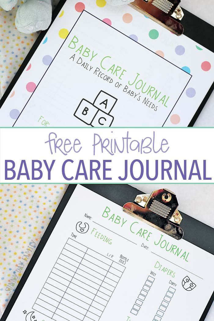 Keep track of baby's feedings, diapers, naps and more with this free printable baby care journal! A baby care log sheet to help new moms get organized and feel less overwhelmed. This twin mom's must have is perfect for all new moms - makes a great baby gift too!