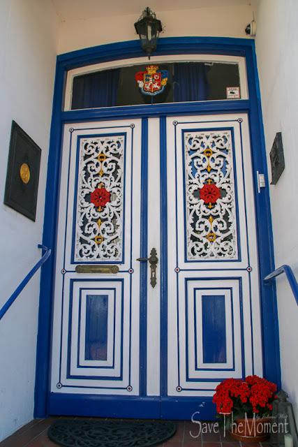 bunte Tür in Kappeln