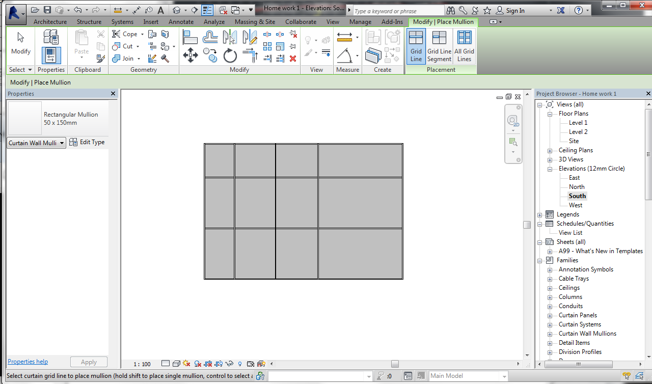 Revit Cant Delete Curtain Wall Panel