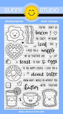 Sunny Studio Stamps: Introducing Breakfast Puns 4x6 Clear Stamps
