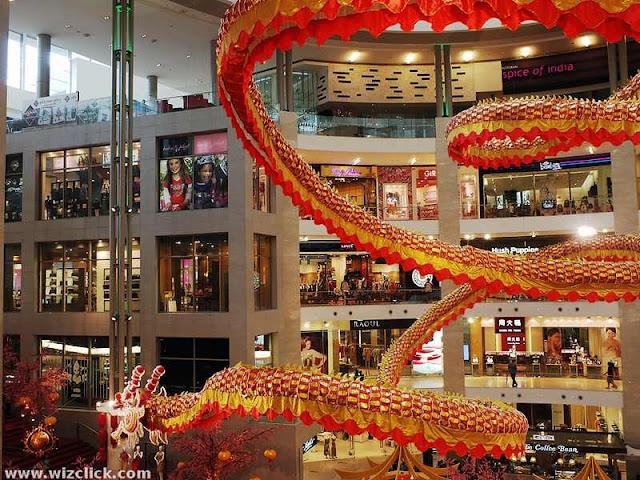 Decending Dragon of pavilion shopping Mall Kuala Lumpur
