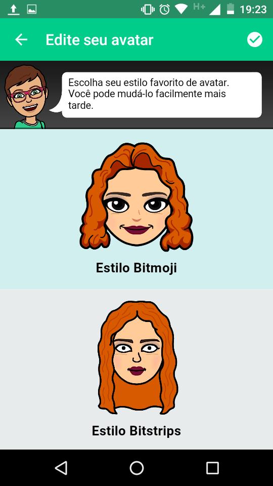 Estilo Bitmoji