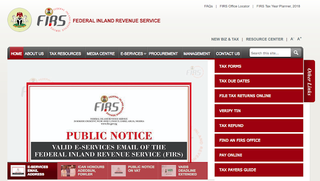 Federal Inland Revenue Service Recruitment 2018