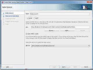 Web Service Data Control