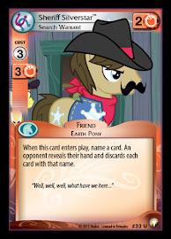 My Little Pony Sheriff Silverstar, Search Warrant Equestrian Odysseys CCG Card