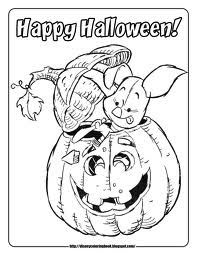 Disney Halloween Coloring Pages 4